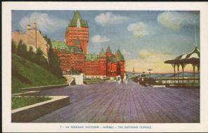 Lorenzo Audet Postcard, La Terrasse Dufferin Quebec, The Dufferin Terrace, 7