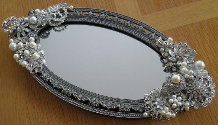 Repurposed vintage jewelry frame.  OOAK  www.calendargirljewelry.com