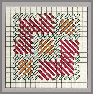 Needlepoint Byzantine stitch Plus