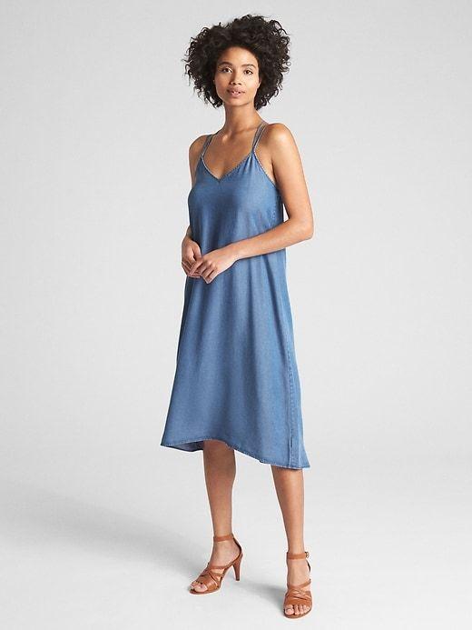 900fe94dd2b Strappy Cami Midi Dress in TENCEL