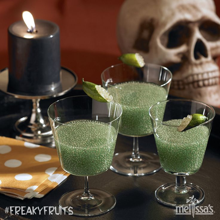 chia seed halloween drink lime slime punch freakyfruits - Halloween Party Punch Alcohol