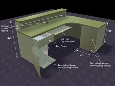 this was a project that a friend asked me to help him with complete building design offices at coral gables reception desk not salon pinterest - Desk Design Plans