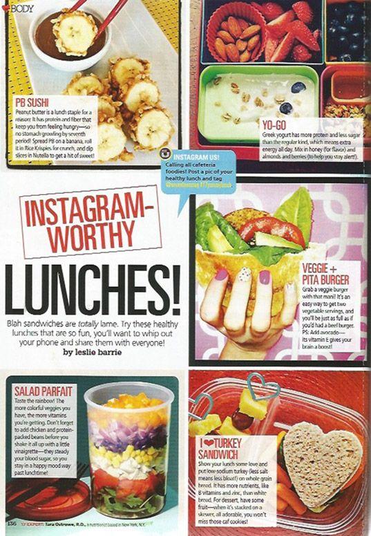 Instagram-Worthy Lunches!  Seventeen Magazine