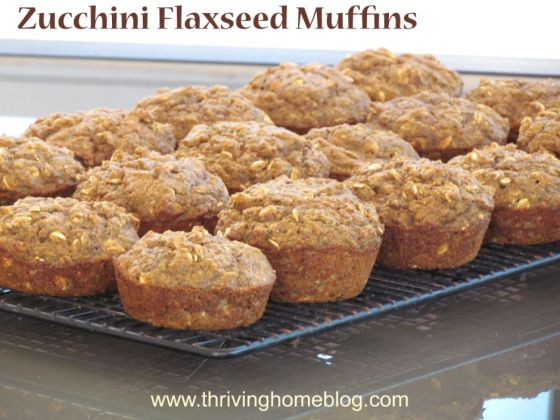 Zucchini Flaxseed Muffins - So much nutrition packed into one delicious muffin it might explode!
