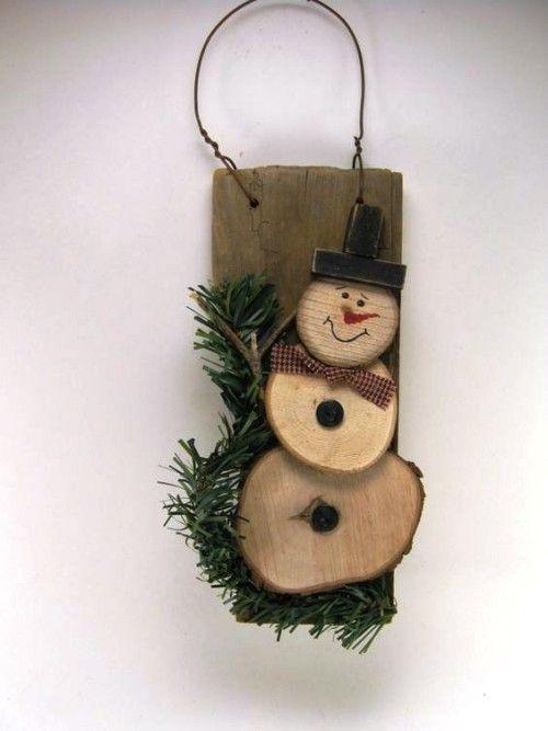 35 idéias para criar com discos de madeira: decorar de forma criativa e perto da natureza no Natal   – Weihnachtsbasteln