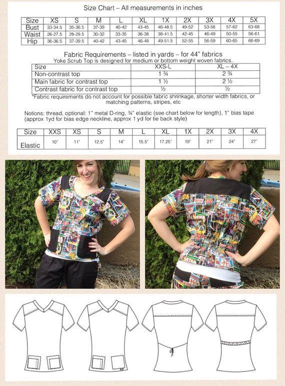 Scrubs PDF Sewing Pattern Bootcut Scrub Pants by RadPatterns