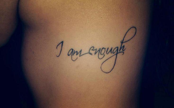 I am enough                                                                                                                                                                                 More
