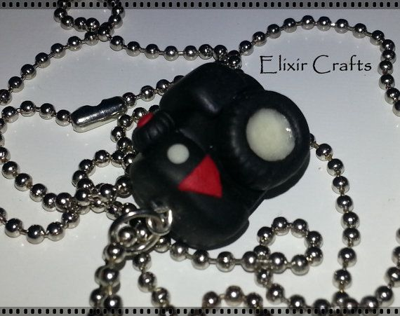 Polymer clay miniature camera necklace by ElixirCrafts on Etsy