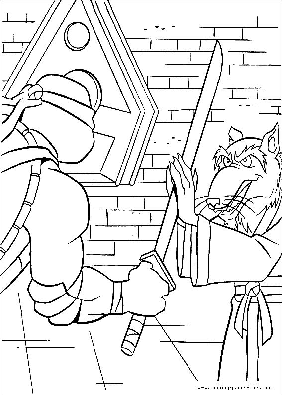nickelodeon teenage mutant ninja turtles printable coloring pages leo training with sensei enjoy coloring