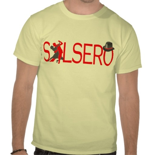 SALSERO T-Shirt with dancing couple & hat #zazzle #salsa #salsera #salsero #tshirts #dance #dancing #salsadancing