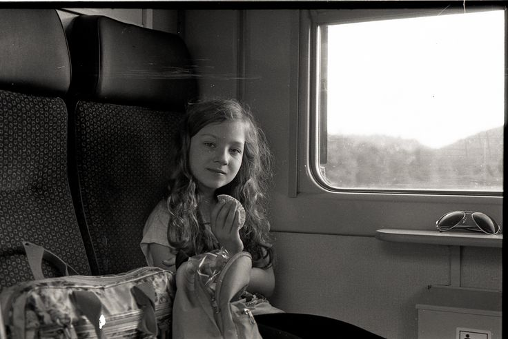 Olivie in the train spring 2016 #frommyarchive #fomapan100 #naturallight #inthetrain #nikonfm2 #scanned #selfdevelopment #nopostproduction