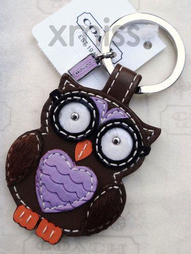 Coach Owl Key Chain