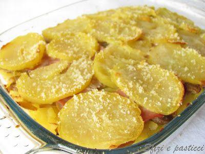Tortino di patate, prosciutto e funghi