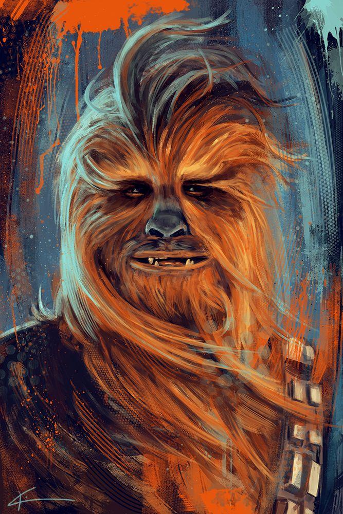Chewie, we're home! ~ Star Wars fan art of Chewbacca | by apfelgriebs on DeviantArt