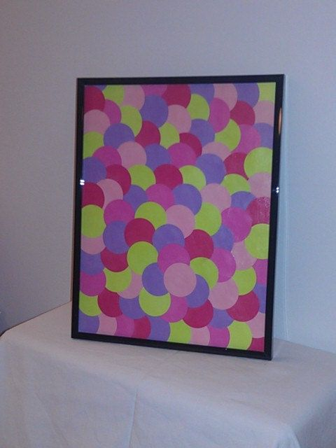8.5 x 11 Candy Shaded Pops O'Paint Chips Framed Print! $30