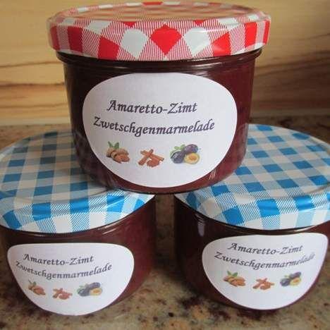 Amaretto-Zimt Zwetschgenmarmelade