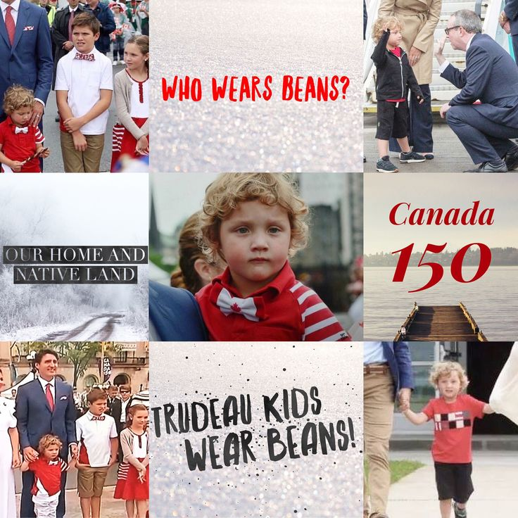 Look at the adorable Trudeau kids in their custom Canada Day Beans!! ❤️
