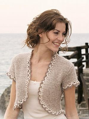 crochet pattern - party pompom bolero