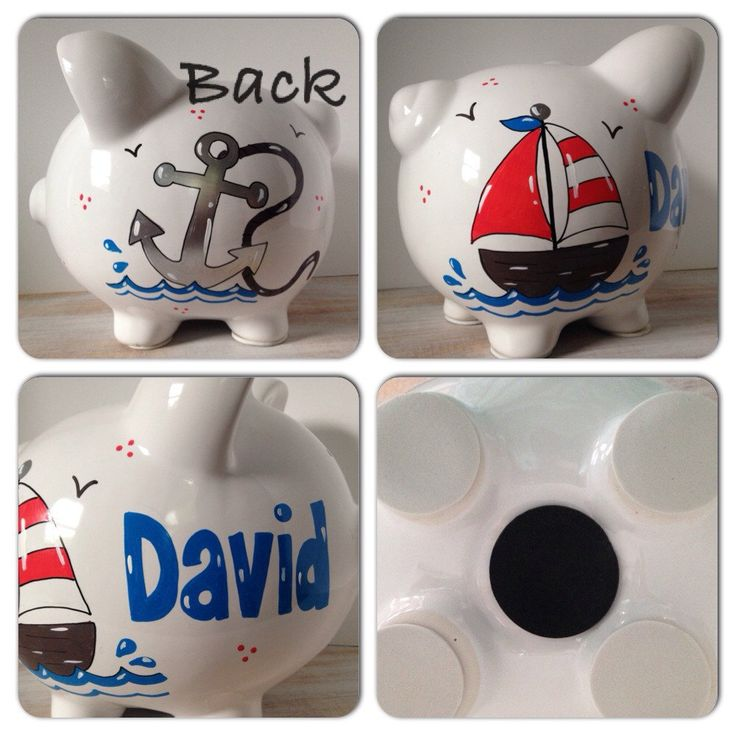 44 best images about piggy banks on pinterest jungle theme new babies and personalized piggy bank - Nautical piggy banks ...