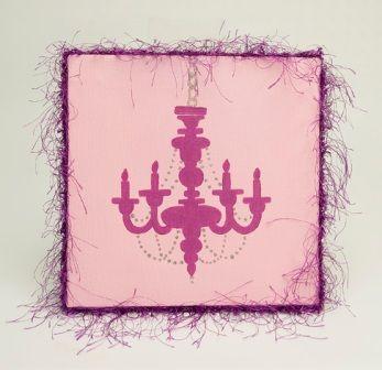 Pink Chandelier Wall Art