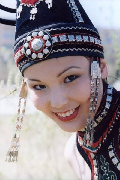 Tuvan girl in national dress.