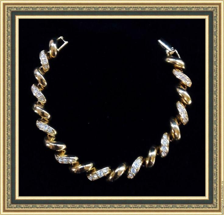 Купить Винтажный браслет от Joan Rivers - золотой, joan rivers, винтаж, винтажный браслет
