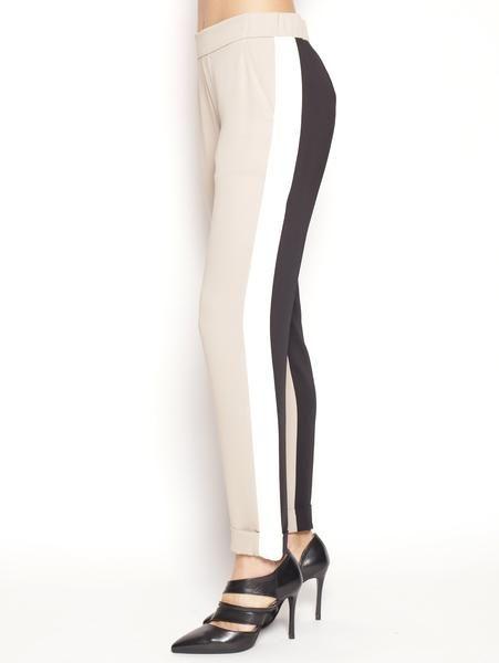 P.A.R.O.S.H. Pantalone jogging PANTETRIX D230162B Beige/Bianco/Nero Pantaloni - TRYMEShop