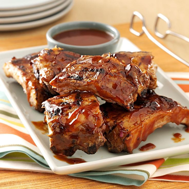 Saucy Grilled Baby Back Ribs Recipe -Don't worry about the beer in the sauce—it's just root beer, which is a subtle undertone to the yummy sauce. —Terri Kandell, Addison, Michigan