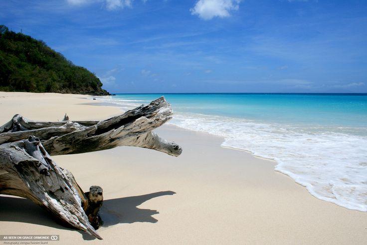 clear blue caribbean water on an antigua beach #GOWSRedesign