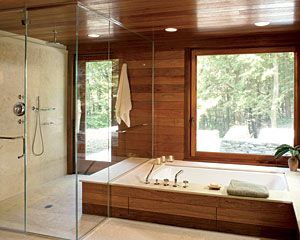 Cold Spring Residence Cold Spring, New York Mowery Marsh Architect A  mahogany-and-. Adirondack DecorKitchen And BathBedroom ...