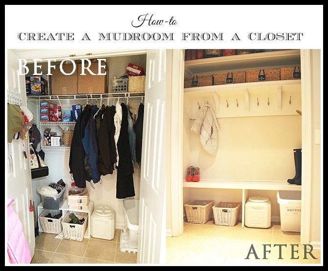 How To Turn A Closet Into A Mudroom Them Room Closet
