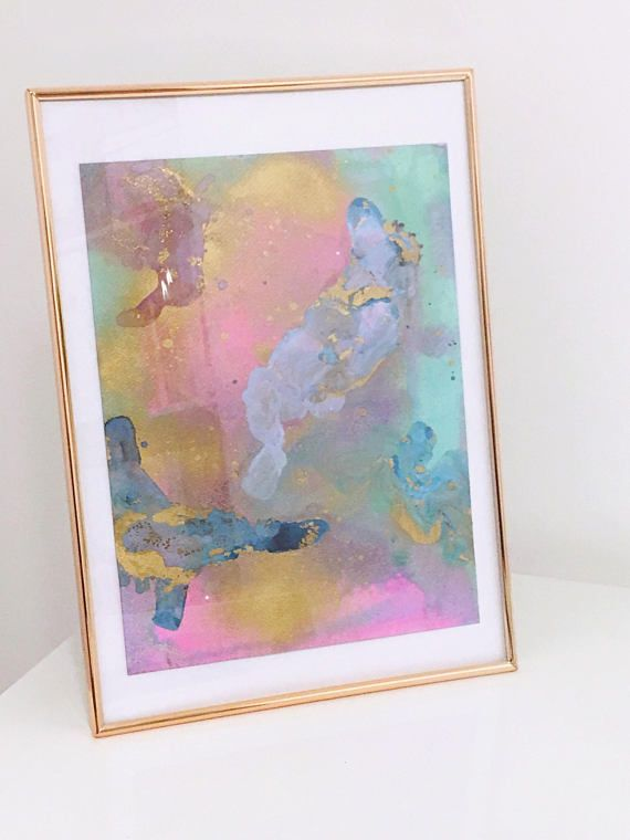 Original Abstract Painting 'I'll Meet You By The Sea'