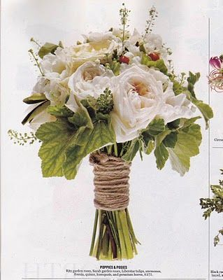 bouquet wrapped in twine!