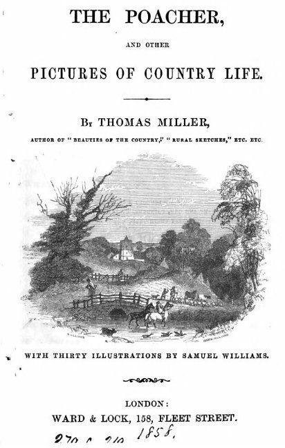 1858 The Poacher and Pictures of Country Life by Thomas Miller via Google Books. (PD-100) © suzilove.com