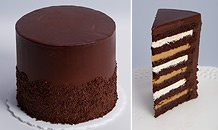 7 layer chocolate peanut butter cake: Chocolates Layered Cakes, Chocolates Peanut, Hmmm Chocolates Cakes, Baking Shops, Butter Cakes Holy, Yummy, Eating Cakes, Peanut Butter Cakes, Vanilla Baking