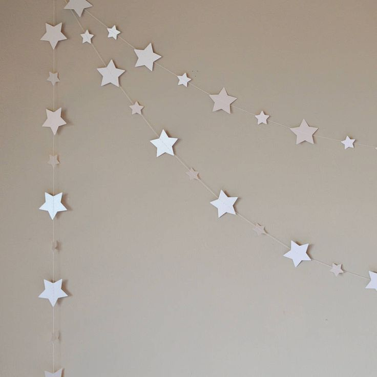 shimmer white starlight stars paper garland by funky frills uk | notonthehighstreet.com