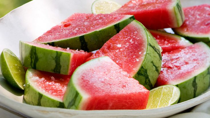 This grown-up fruit dessert borrows flavors from margaritas. Tequila and Triple Sec infuse the watermelon slices, which also get a spray of lime juice and a sprinkling of coarse salt. The longer the watermelon soaks, the more flavorful it becomes -- one more reason to save any leftover slices.