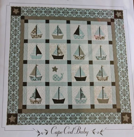 Cape Cod Baby Quilt Pattern By Bunny Hill Sailboats Whale Nautical An?