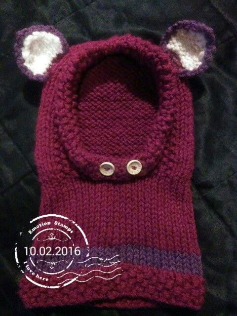 Pink fox cowl, handmade by Guinivere