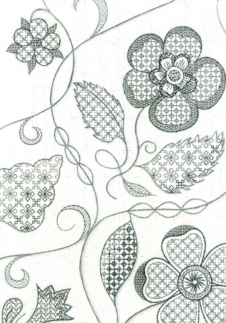 blackwork stitch - Google Search