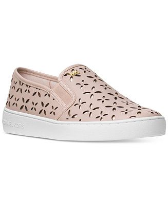 MICHAEL Michael Kors Keaton Floral Perforated Slip-On Sneakers - Sneakers - Shoes - Macy's