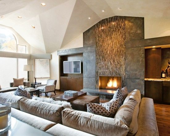 Contemporary Living Room Ideas With Fireplace
