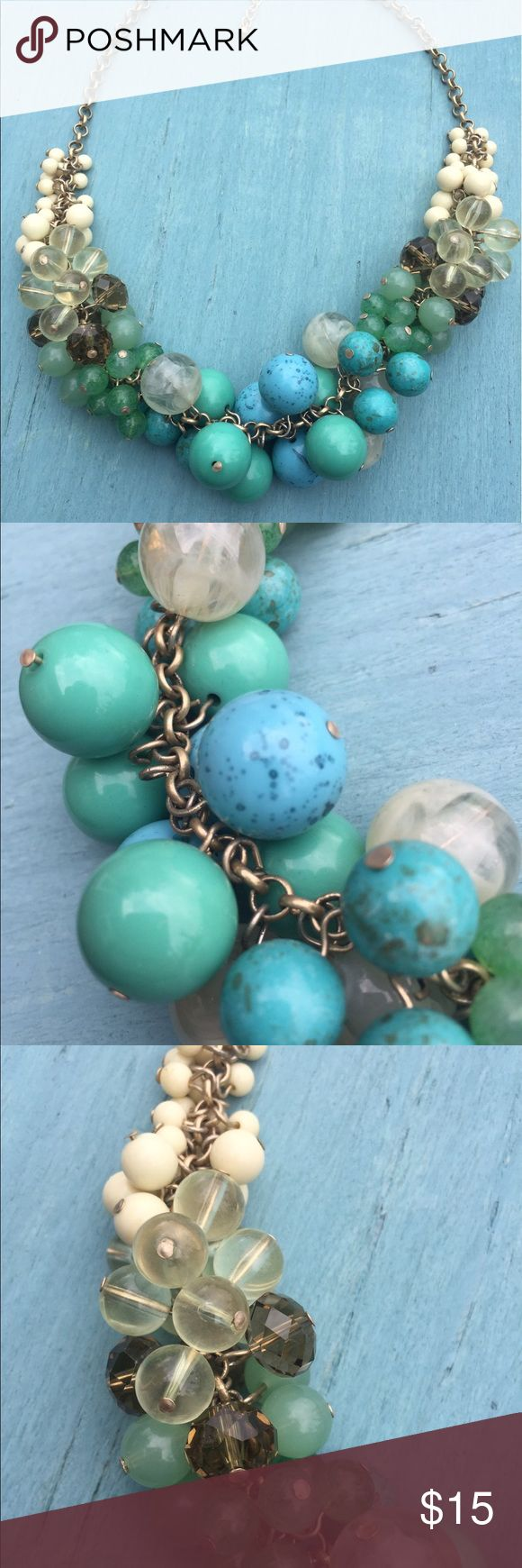 Lia Sophia blue and green ombré necklace Lia Sophia blue and green ombré balls necklace Lia Sophia Jewelry Necklaces