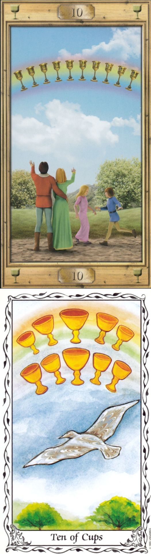 Ten of Cups: happiness and shattered dreams (reverse). Pictorial Tarot deck and Hudes Tarot deck: free tarot reading online no sign up, how to play tarot cards and one card tarot. Best 2018 spells and cartomancy decks. #divination #paganism #androidapplication #howtoreadtarotcards