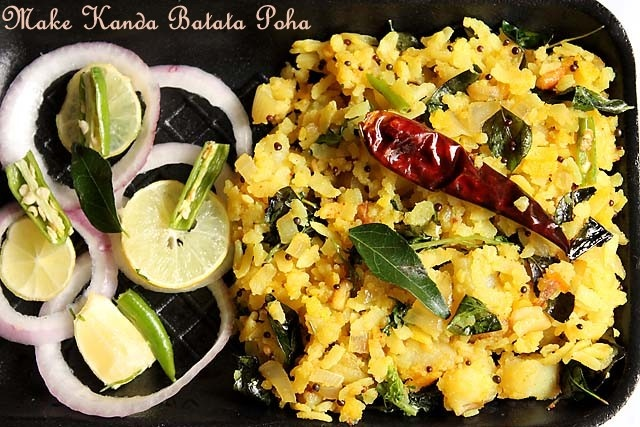 Recipe: Kanda Batata Poha     Poha is a snack made from flattened rice. Kanda Batata Poha where Kanda means Onion, Batata means potatoes and Poha are rice flakes. Kanda batata poha origins from Mahrashtra and is famous traditional dish made in Mumbai, Pune, Kolhapur, Solapur and other regions in India. Even South Indians make them but they add a dash of grated coconut which draws the thin line between them.