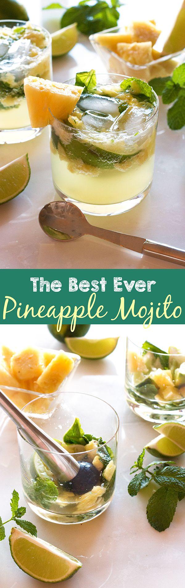 The Best Ever Pineapple Mojito | www.grainchanger.com