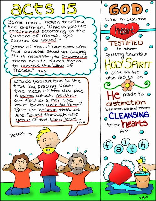 Doodle Through The Bible: Acts 15 Free Coloring page, PNG elements and a  bible journaling strip are available at the website :)