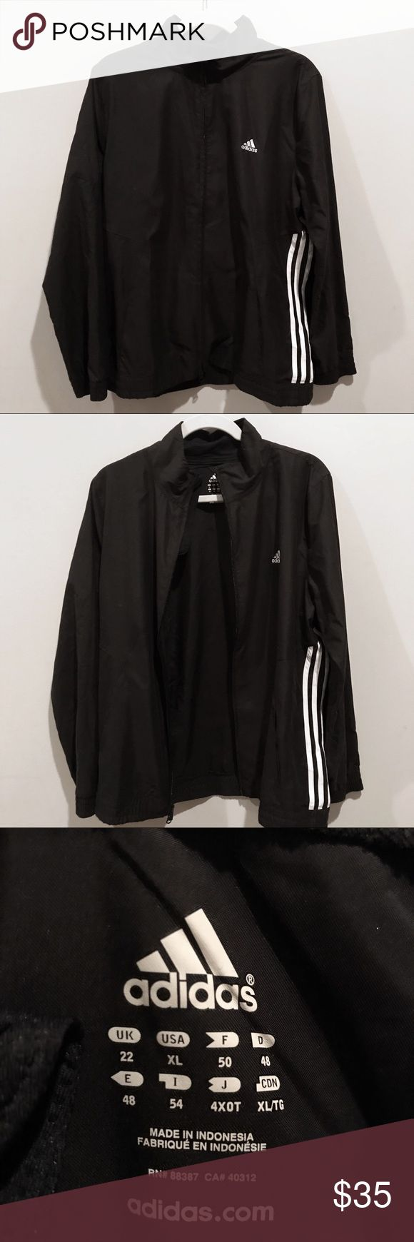 Classic adidas track jacket A true classic style with windbreaking abilities. adidas Jackets & Coats