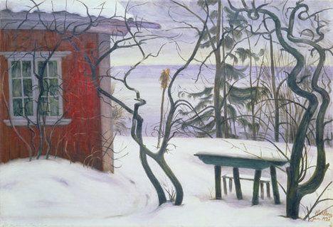 """Harald Sohlberg, """"Winter, Hvalsbakken"""" (1926)"""
