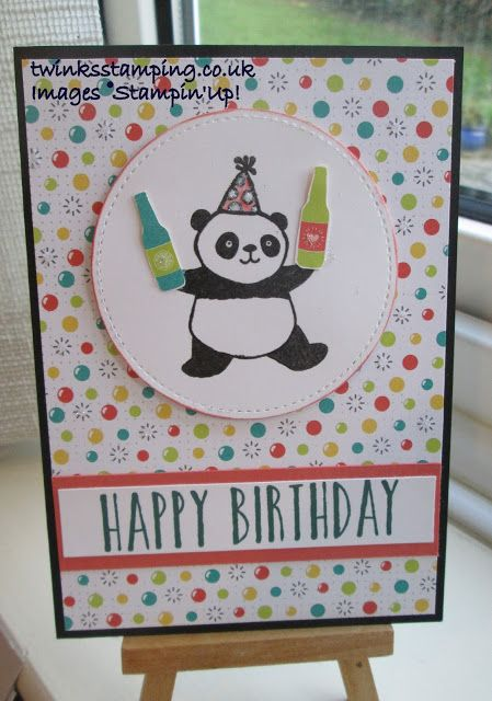 Twinks Stamping | Stampin' Up! Demonstrator: Happy Birthday - Panda & bubbles & fizz dsp